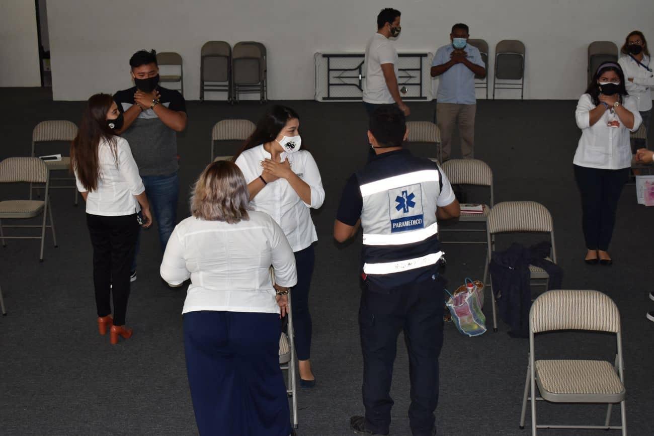 PERSONAL UO CANCÚN TOMA CAPACITACIÓN 2021 EN PRIMEROS AUXILIOS