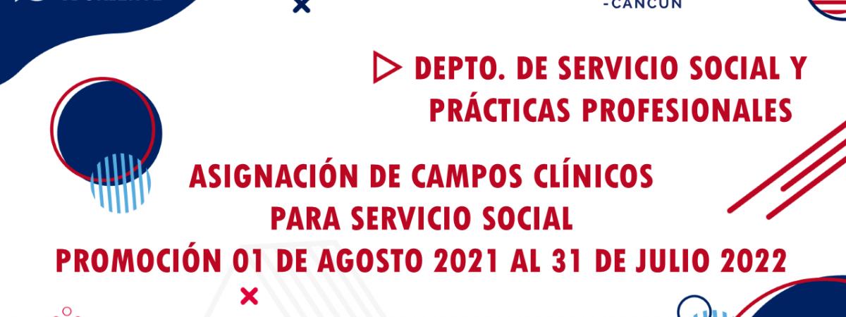 ASIGNACIÓN DE CAMPOS CLINICOS LICENCIATURA EN PSICOLOGÍA
