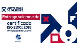 UO se certifica en norma ISO 21001:2018